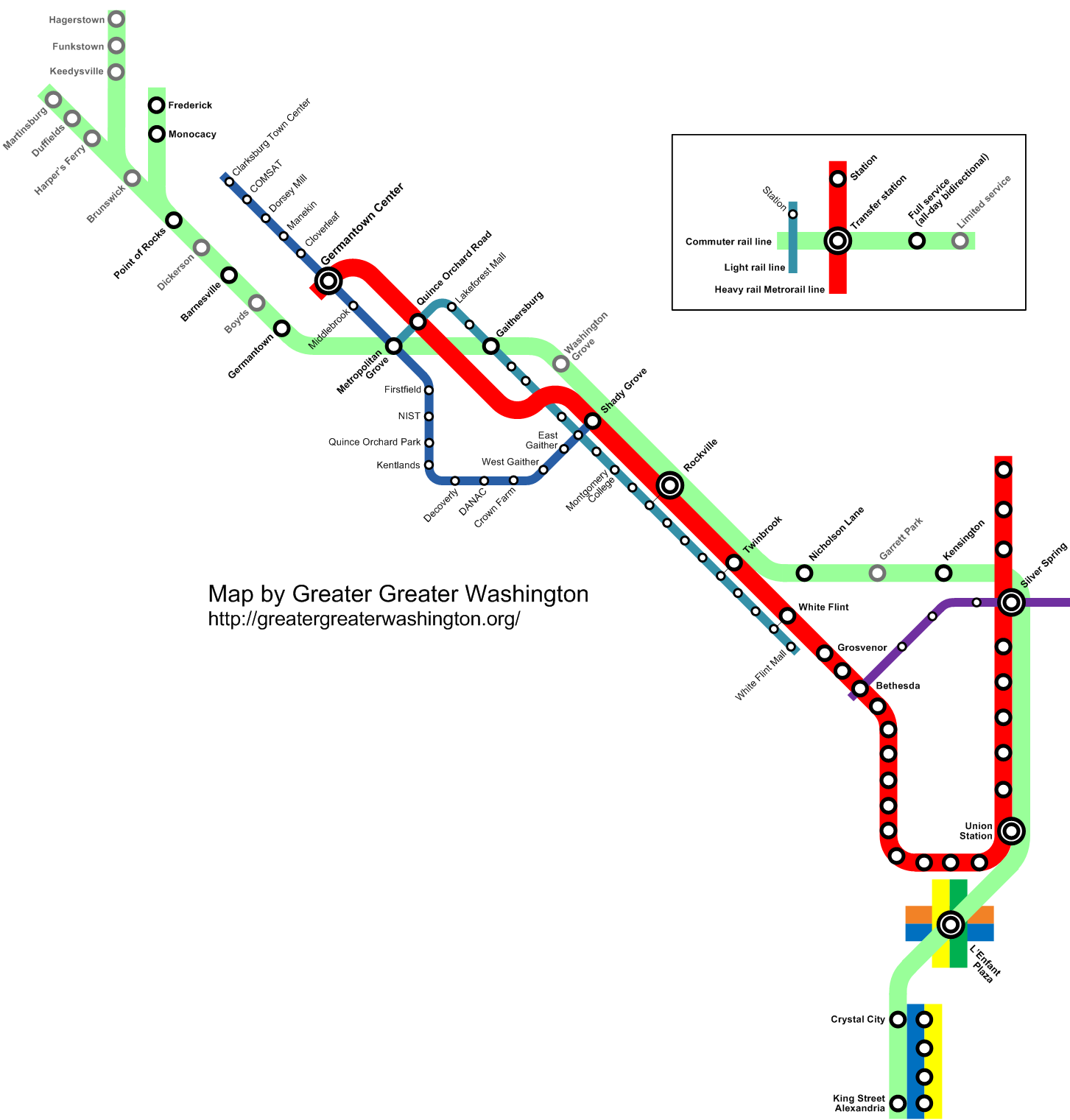 transit vision map for I-270 corridor