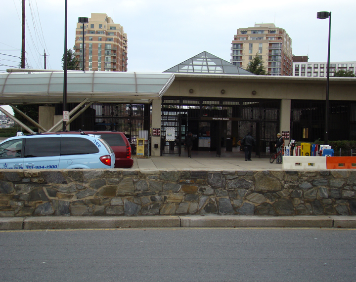 White Flint Metro entrance from pedestrian's view